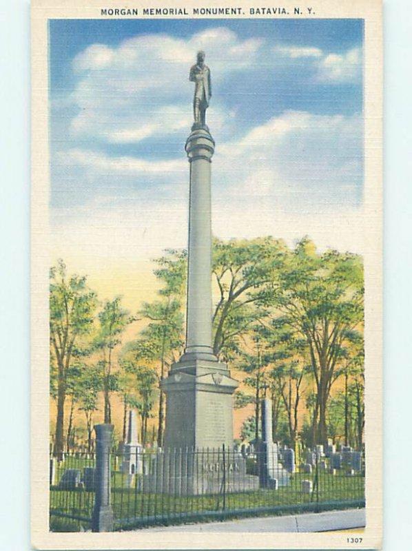 Linen MONUMENT SCENE Batavia New York NY AE7541