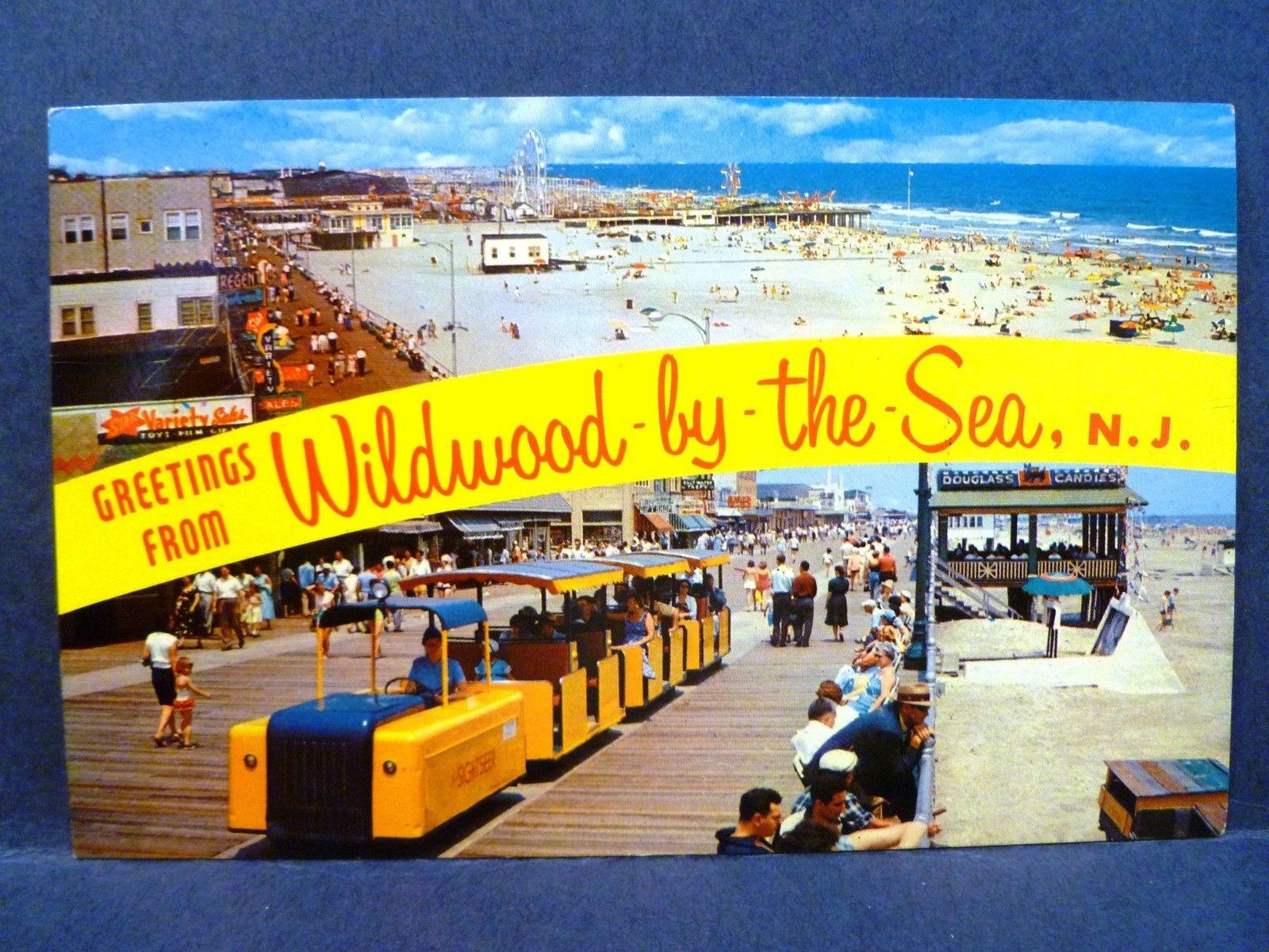 Greetings From Wildwood By The Sea NJ Beach Postcard
