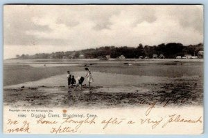 1906 WOODMONT CONNECTICUT*CT*DIGGING CLAMS*COPYRIGHT 1905 ROTOGRAPH CO POSTCARD