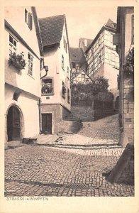 Strasse in Wimpfen Germany Unused