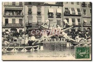 Old Postcard This jousting Cettoises Champions struggling