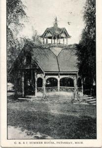 1907 PETOSKEY Michigan Mich Postcard GR&I Summer House