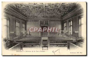 Old Postcard Rouen Interior of the Court of Assizes