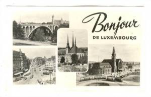 RP, 4 Different Views Of Luxembourg, Bridge, Street Scene, Bonjour De Luxembo...