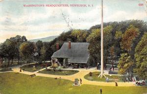 Newburgh New York~Washington's Headquarters~Man @ Cannon~People on Path~1910 Pc