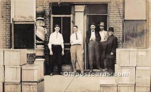 Real Photo Occupation and People Working Barber Shop Unused