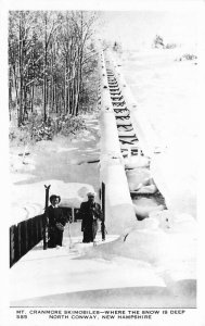 Mt Cranmore Ski Mobiles North Conway New Hampshire 1950s Winter Sports 9403