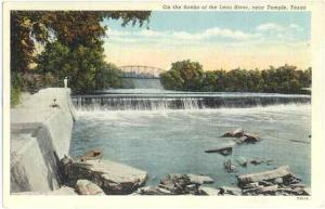 On the Banks of the Leon River, near Temple, Texas, TX, Linen
