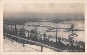 Nordmarken Sweden Utsigt Birds Eye View Real Photo Antique Postcard J79757