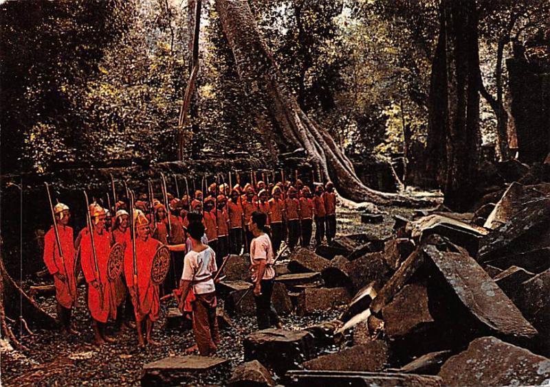 Angkor Cambodia, Cambodge Armee traditionelle Khmere Angkor Armee traditionel...