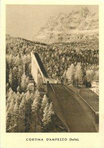 Italy ski jump Cortina d`Ampezzo postcard