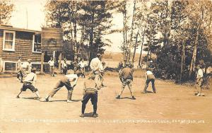 Readfield ME Baseball Tennis Court Camp Maranacook in 1921 RPPC Postcard