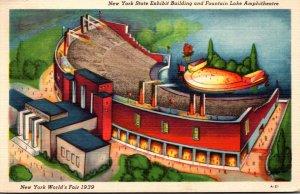 New York World's Fair 1939 The New York State Exhibit Building & Fountai...