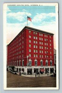 Paterson NJ-New Jersey, Alexander Hamilton Hotel, Drugstore, Vintage Postcard