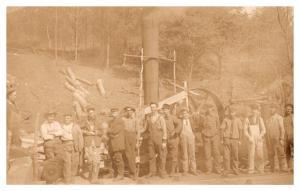 Steam  Donkey in forest , Lumberjacks, RPC