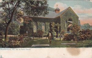 Old Saint Pauls Churh Norfolk Virginia 1907