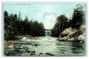 Postcard Upper Falls, Dennysville, Maine ME H2