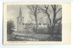 cu2483 - View of All Saints' Church, Wellingore, from across Fields - Postcard
