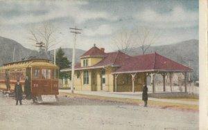 GOLDEN , Colorado , 1900-10s ; Depot & Tramway Car