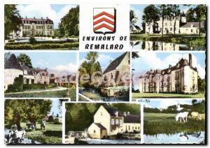 Postcard Modern Surroundings of Remalard Orne Chateau de Vore Dorceau House D...