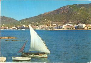 Spain, Mallorca, Andraitx, Vista Parcial del Puerto, 1974 used Postcard