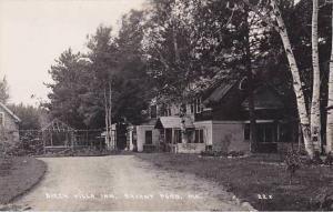 Maine Bryant Pond Birch Villa Inn Real Photo RPPC