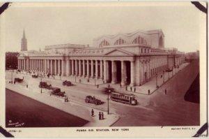 PENNA RR STATION NEW YORK CITY NY RPPC A REAL ROTARY PHOTO ON RAJAR BROMIDE CARD