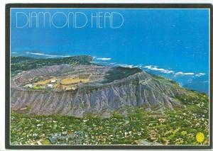Diamond Head Crater as seen from the air, Honolulu, Hawaii