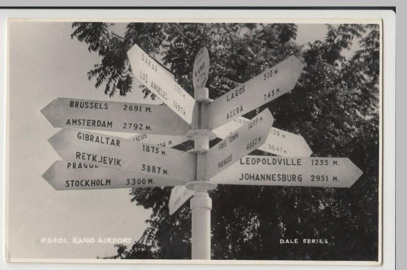 Nigeria; Kano Airport, Signpost P2401 RP PPC By Sweetman, Dale Series