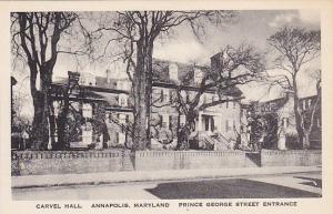 ANNAPOLIS, Maryland, 00-10s; Carvel Hall, Prince George Street Entrance