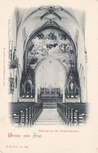 Gruss aus ZUG, Switzerland, 1890's; Inneres Der St. Oswaldskirche