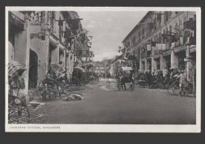 112353 SINGAPORE Jinriksha Station Vintage postcard