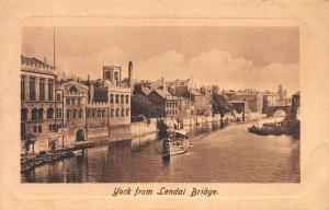 View of York, England, from Lendal Bridge, Early Postcard, Unused