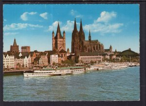 The Rhine and Cathedral,Cologne,Germany BIN