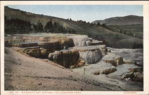 Yellowstone - MAMMOTH HOT SPRINGS Haynes #151 c1915 Postcard EXC COND