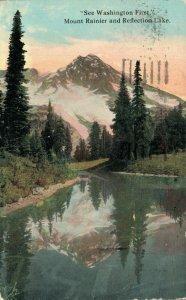 USA See Washington First Mount Rainier and Reflection Lake 03.78