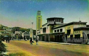 Algeria Philippeville Constantine Vue sur la Gare Station Postcard