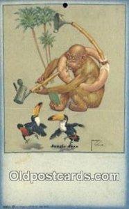 Artist Larson Wood Postcard Post Card Old Vintage Antique unused