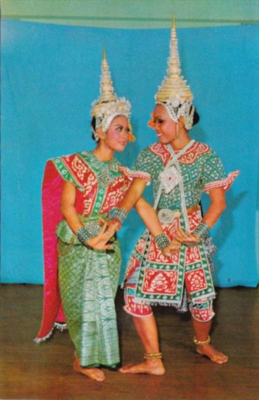Thailand Thai Actor and Actress A Posture Of Lakorn Thai Theatrical Play
