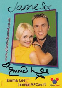 Emma Lee James McCourt The Disney Channel Hand Signed Cast Card Photo