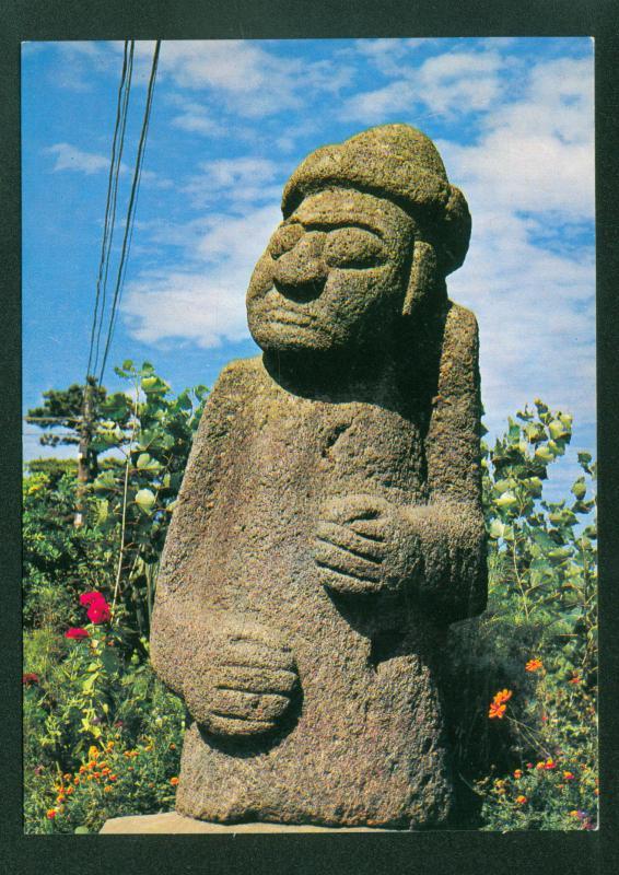 Dolharu-Bang Stone Image South Korean Tol Harubangs Vintage Korea Postcard