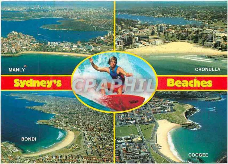 Modern Postcard Sydney' S Beaches Surfing Leaped Coogee Cronulla Manly