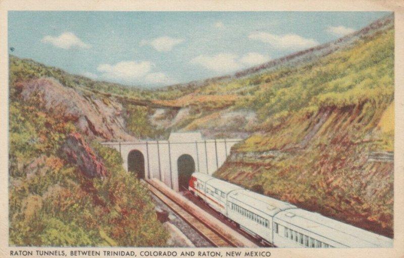 Sante Fe Railroad Tunnels between TRINADAD, CO & RATON, New Mexico, 1910-20s