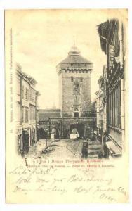 Ulica i Brama Floryanska Krakowie, Porte St. Florian a Cracovie, Poland, PU-1900