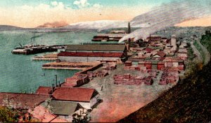 Washington Everett View Of Water Front