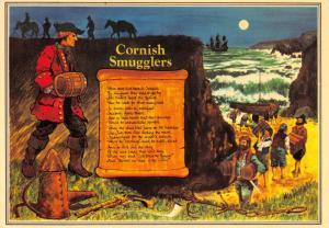Cornwall Art Postcard, Cornish Smugglers (John Clark) by Murray King S17