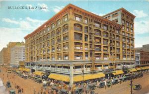 Los Angeles California~Bullock's Building~Busy Street~Postcard pm @ Arcade Sta 6