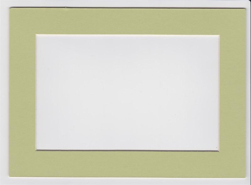 Custom Cut Postcard Mat Fits 5x7 Frame LIGHT GREEN