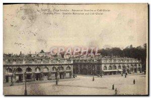 Old Postcard Nancy Place Stanislas Stanislas Restaurant and Cafe Glacier