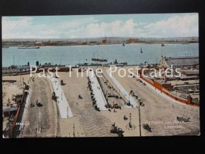 Old PC - PIERHEAD and RIVER, LIVERPOOL. Merseyside